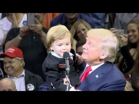 Little Trump LookAlike Comes on Stage with Donald in WilkesBarre 101016