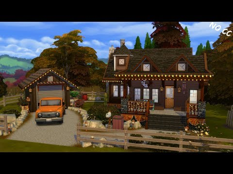 👴-grandpas-cottage-🐶-sims-4:-speed-build-(no-cc)