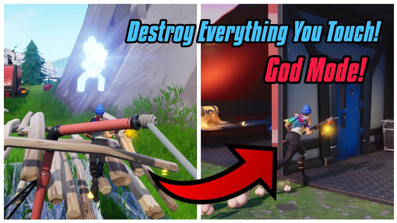 New God Mode Glitch In Fortnite Season 7 Destroy Everything You Touch And Teleport In Ps4 Xbox On Youtube