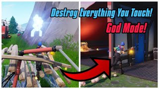 *New* God Mode Glitch In Fortnite Season 7! Destroy Everything you touch and teleport In PS4/Xbox on
