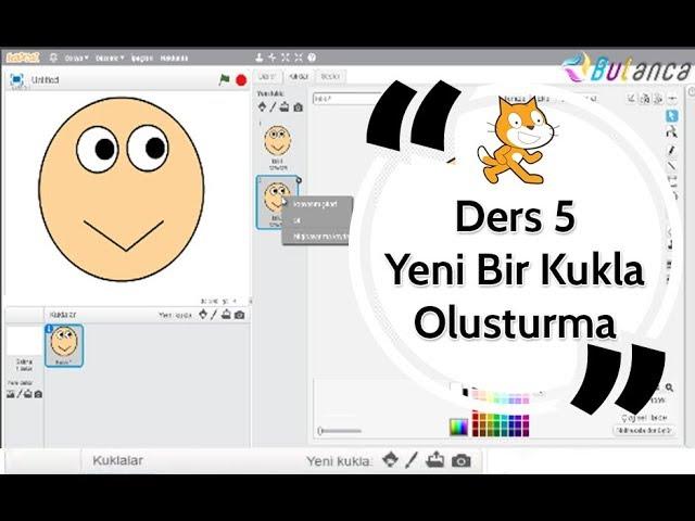 Scratch Eğitimi Ders 5 - Yeni Karakter ve Kılık Oluşturma