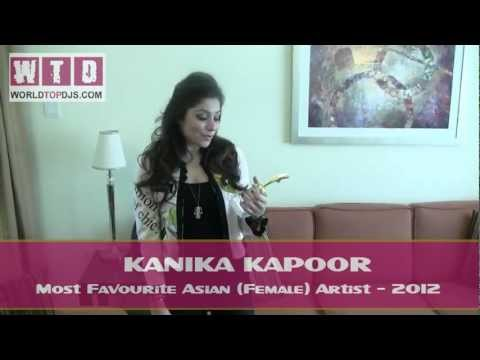 Kanika Kapoor AWARD ( WORLD TOP DJS FESTIVAL 2012 ) DUBAI