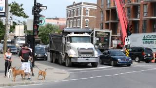 STERLING MACK PETERBILT DUMP TRUCKS IN ACTION