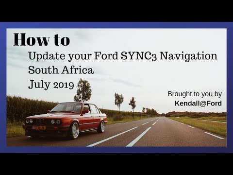 How To Update Your South African Ford SYNC3 Navigation to ver 2017 Q3 July 2019