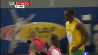 ** Usain Bolt **  World record 9.58 in olympic of berlin INCREDIBLE in 100 meter