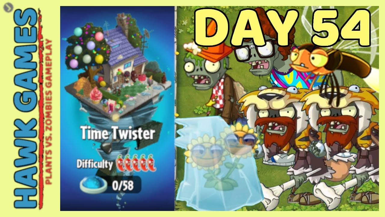 Plants vs Zombies 2 Time Twister World Day 53 [Player's Choice]