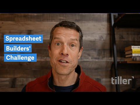 Join Tiller's 2021 Spreadsheet Builders' Challenge