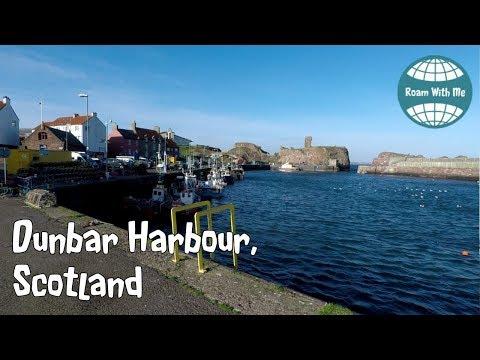 Dunbar Harbour, East Lothian, Scotland, slow tv style