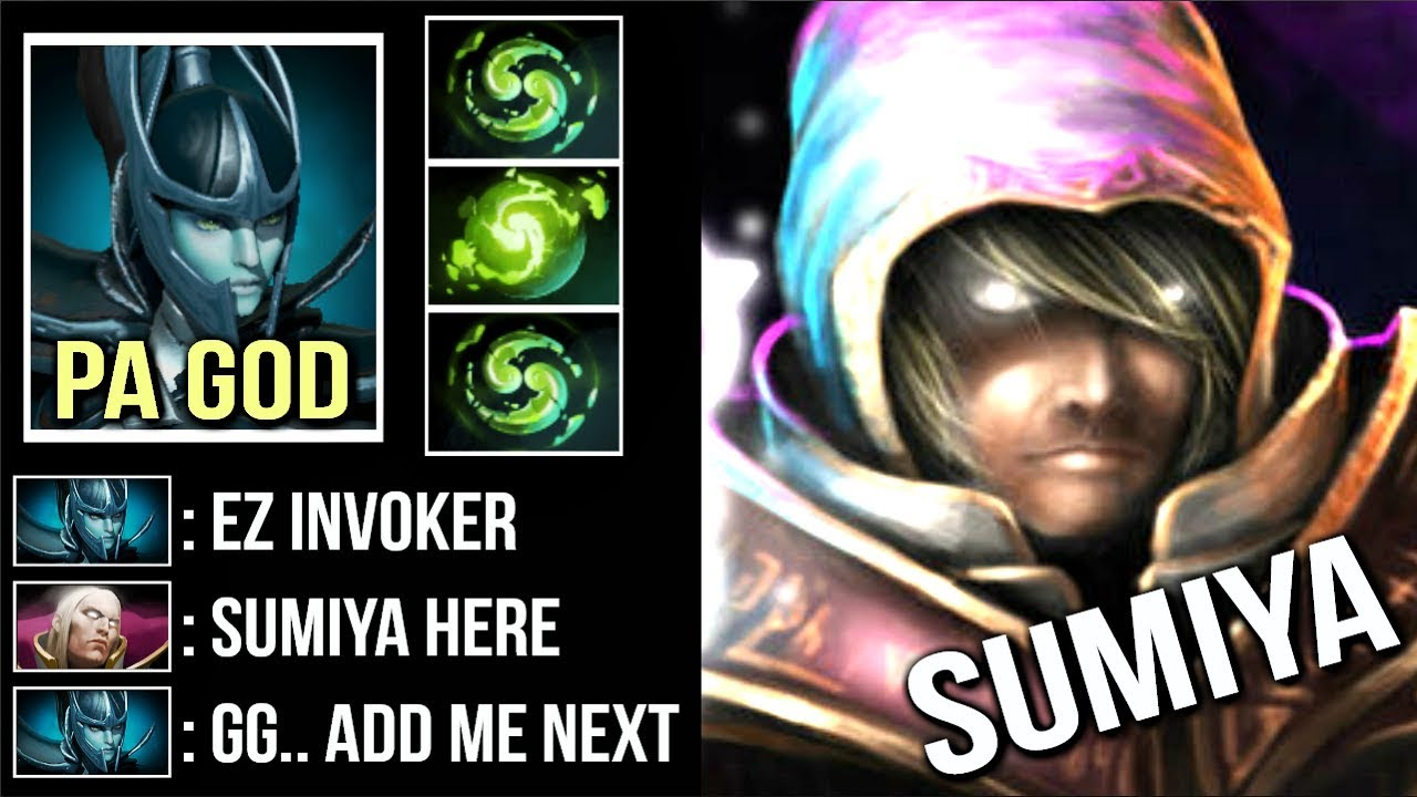 How To Beat Top  Pa God By Sumiya Best Invoker In The World Craziest Combo Refresher Wtf Dota