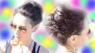 СУПЕР ПУЧОК ۞ ЗА 5 минут ۞ Объем для тонких волос(Пучок на каждый день. Прическа за 5 минут. Объем для тонких волос! Привет! В этом видео я покажу одну из своих..., 2015-10-16T05:00:00.000Z)