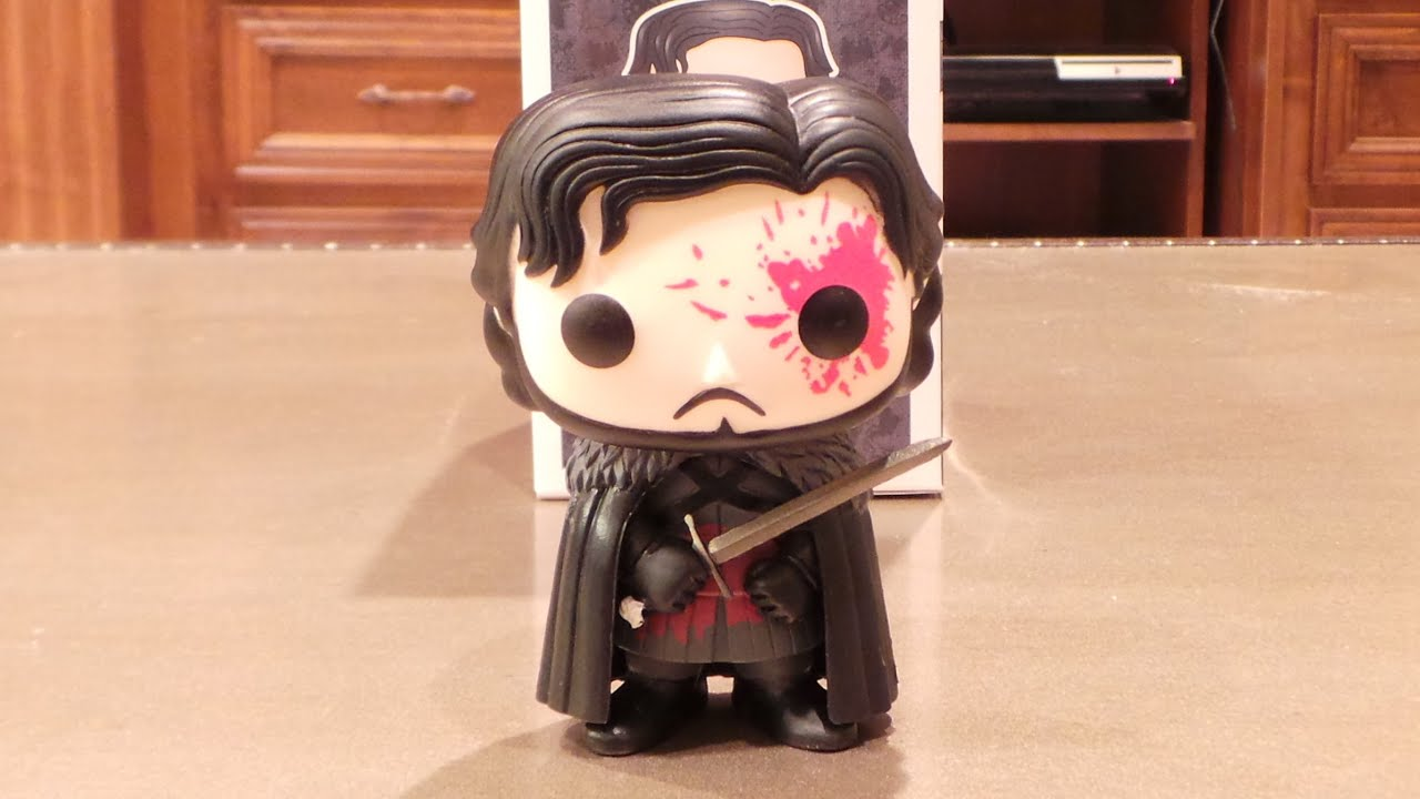 bloody jon snow funko pop game of thrones hot topic exclusive youtube. Black Bedroom Furniture Sets. Home Design Ideas