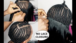 NO LACE CLOSURE ➟SEW IN WEAVE TUTORIAL Video For BEGINNERS  (HOW TO)