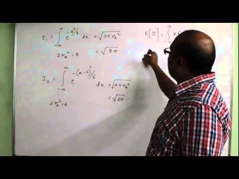 GATE Exam Gaussian Probability Density Function Lecture by Kishore Kashyap