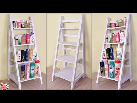 WOW !!! Amazing... DIY Room Organizer || Ladder Shelf Organizer !!!