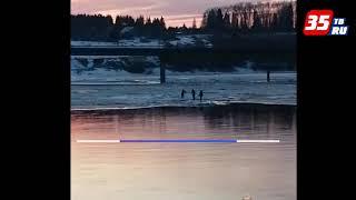 В Харовске инспекторы ДПС спасли подростка с отколовшейся льдины