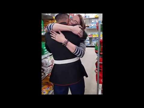 Joey Brooks - Marine Surprises His Mom At Work
