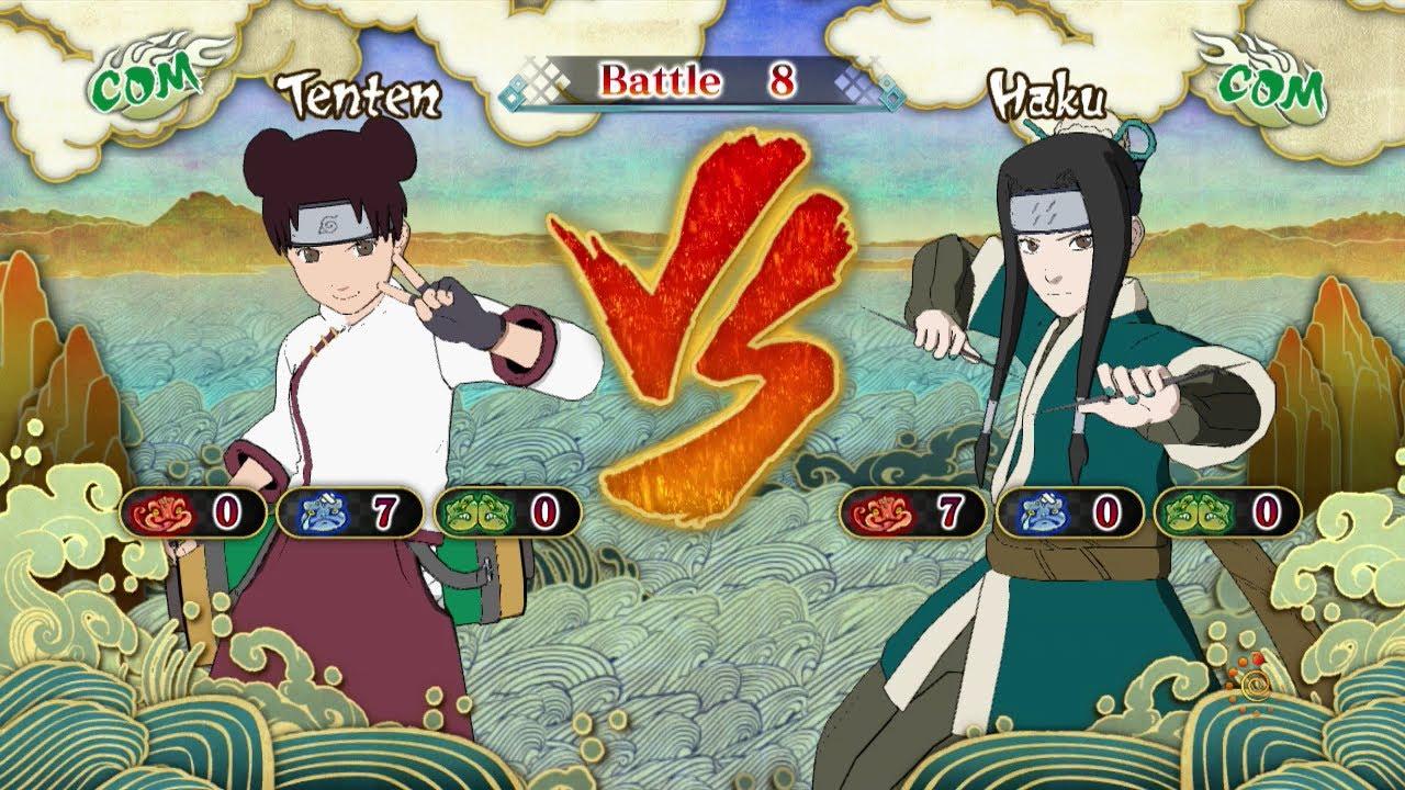 Naruto Shippuden: Ultimate Ninja Storm 3, Tenten VS Haku ...