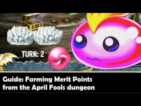 Brave Frontier - Guide: Farming Merit Points From The April Fools Dungeon