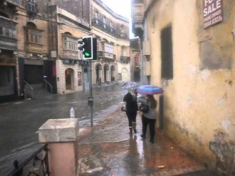 Malta Birkirkara River Floods