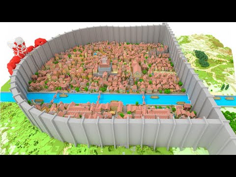 Attack On Titan Karte.Attack On Titan In Minecraft Shingeki No Kyojin Map Youtube