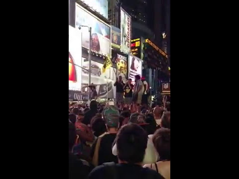 Times Square Rally on George Zimmerman Veredict 14/07/2013