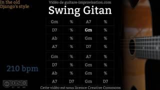 Swing Gitan (210 bpm) - Gypsy jazz Backing track / Jazz manouche