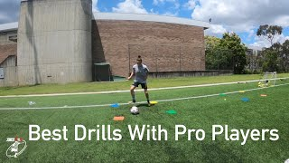MY FAVOURITE TRAINING DRILLS WITH PROS | Joner 1on1