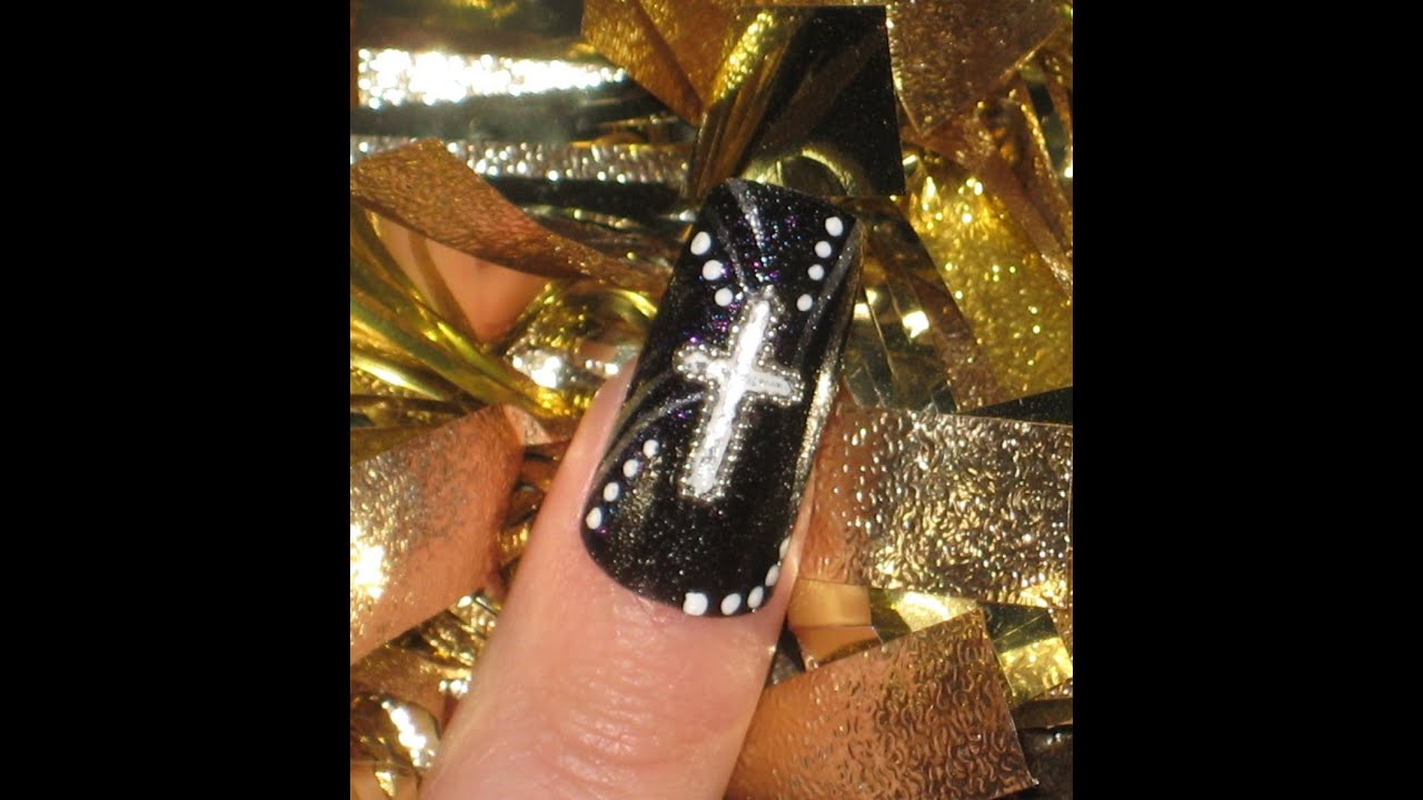 12 Designs Of Christmas Cross Accent Nail Youtube