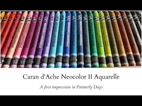 Caran d'Ache Neocolor II Aquarelle - A first impression