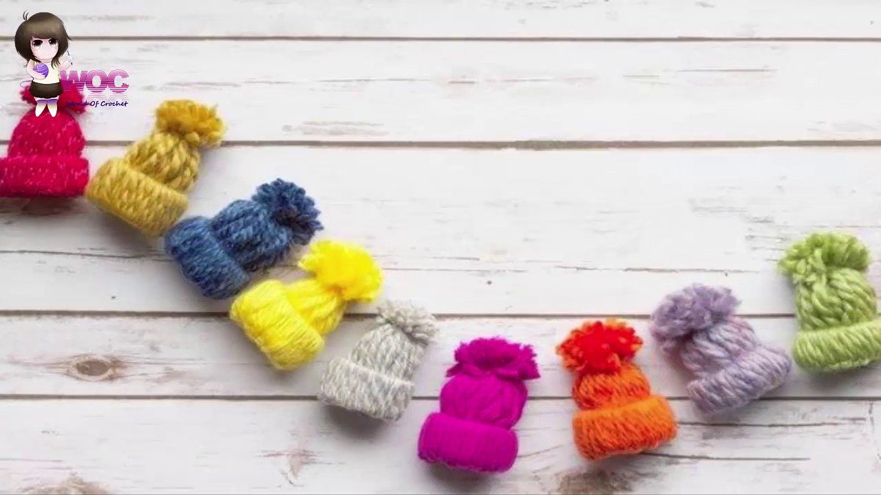 How to make small caps from yarn diy woolen thread for Craft with woolen thread