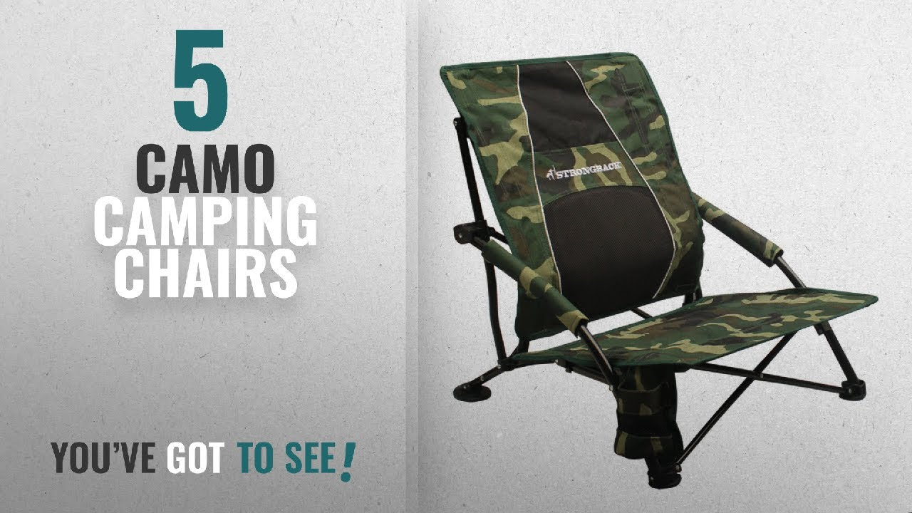 Strong Back Chairs Steel Egg Chair Top 5 Camo Camping 2018 Strongback Low Gravity Beach With Lumbar Support