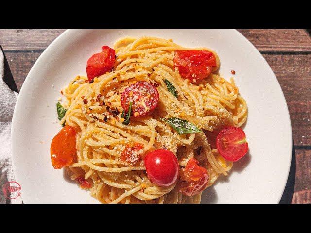 Easy & Quick Spaghetti in Cherry Tomato Sauce