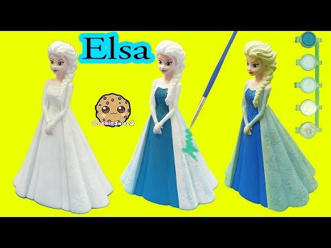 Paint Your Own Disney Queen Elsa Bank , Easy Painting Craft Kit Cookieswirlc Video