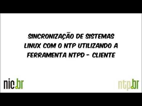 Sincronização de sistemas Linux com o NTP utilizando o NTPD via fontes - Cliente