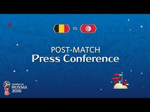 FIFA World Cup™ 2018: Belgium v. Tunisia - Post-Match Press Conference