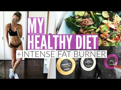 How To Eat Healthy | MY DIET + INTENSE FAT BURNING Workout