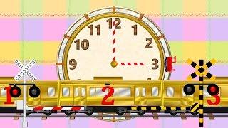 How to tell time for kids | 時間を覚える(英語)踏切電車アニメ