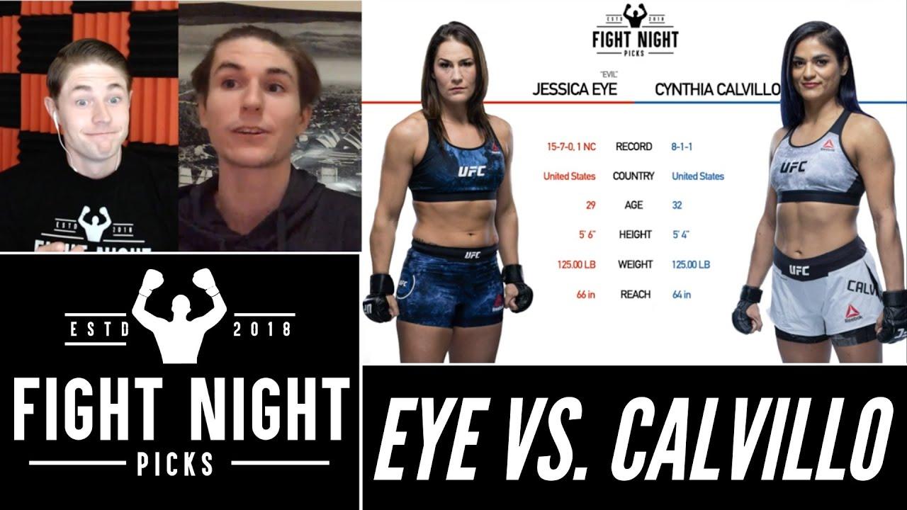 UFC Fight Night results -- Jessica Eye vs. Cynthia Calvillo: Live ...
