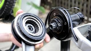 Odmontování a instalace klik a středu na kole
