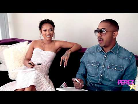 Marques Houston and Karrueche Tran  Stop By To Play A Game With Us!