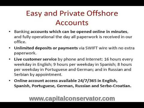 Offshore Bank Accounts Unlimited Wire Transfers