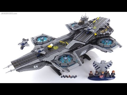 LEGO Marvel Shield Helicarrier detailed review set 76042