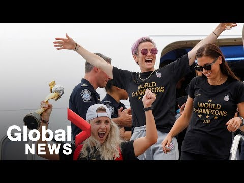 Rapinoe, Morgan speak on White House visit upon return to U.S. after World Cup win