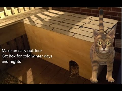 MAKING A SIMPLE | Outdoor Cat House