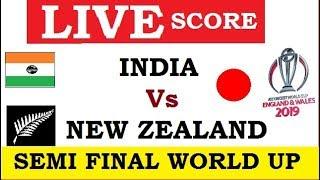 INDIA VS NEW ZEALAND SEMI FINAL LIVE SCORE
