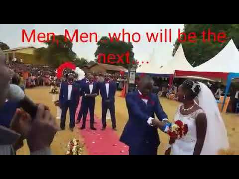 Funny Wedding Video of African Groom Tossing His Wife's Bouquet to His Groomsmen thumbnail