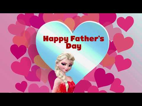 Elsa gives a surprise gift to her Dad | Happy fathers day song