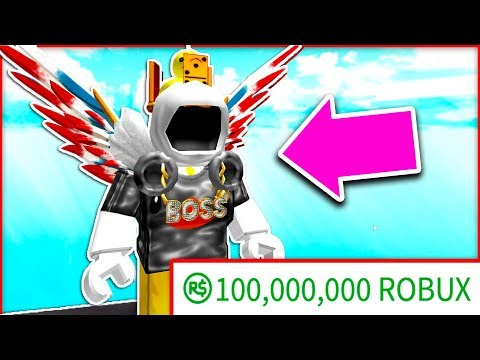 100 MILLION ROBUX LOOKS LIKE THIS .. (ROBLOX RICHEST PLAYER)