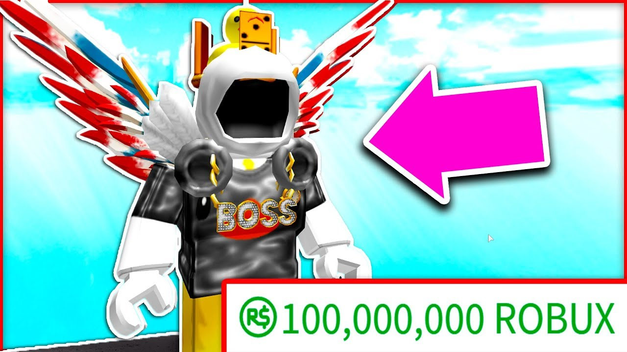 100 MILLION ROBUX LOOKS LIKE THIS .. (ROBLOX RICHEST ...