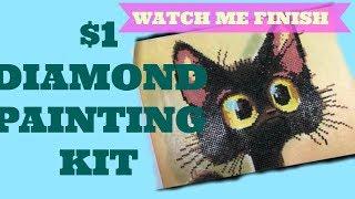 Watch me finish 5D diamond painting